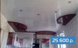 2-х уровневый натяжной в кухне-гостиной 23 м²
